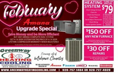 Valentine's Specials on Heating & Cooling Repair!